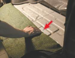 расположение vin номера в багажнике