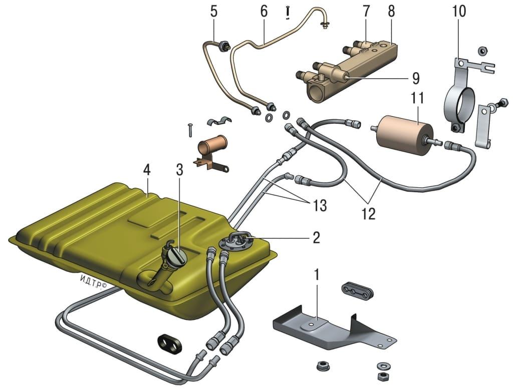 Схема топливной системы шевроле круз фото 725