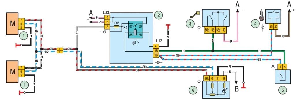 Схема включения корректоров