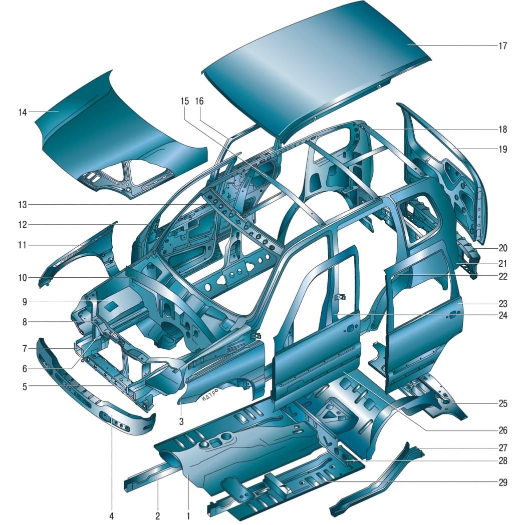 схема шевроле-нива